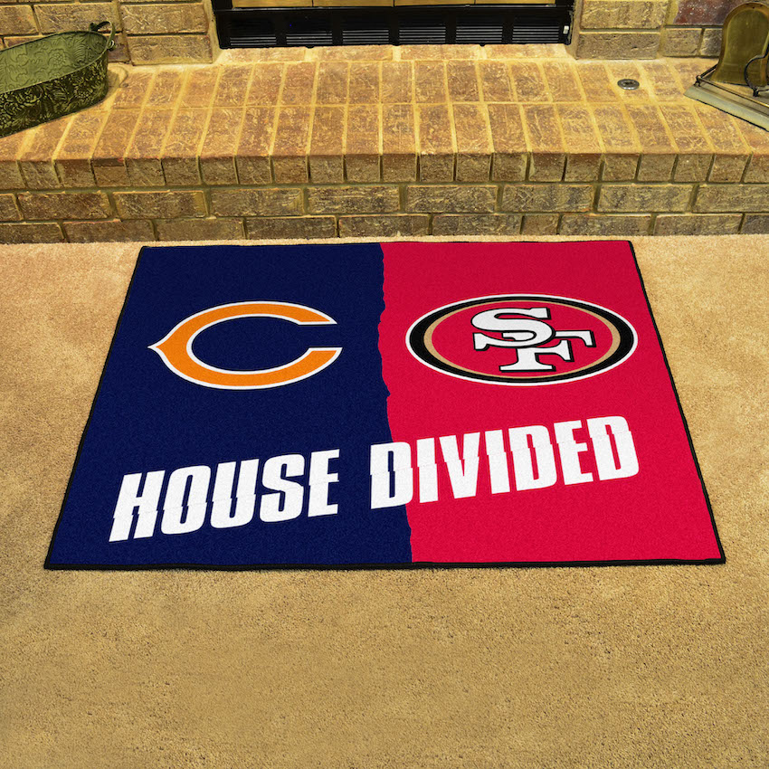 NFL House Divided Rivalry Rug Chicago Bears - San Francisco 49ers
