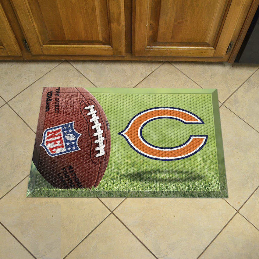 Chicago Bears Ball Style SCRAPER Door Mat
