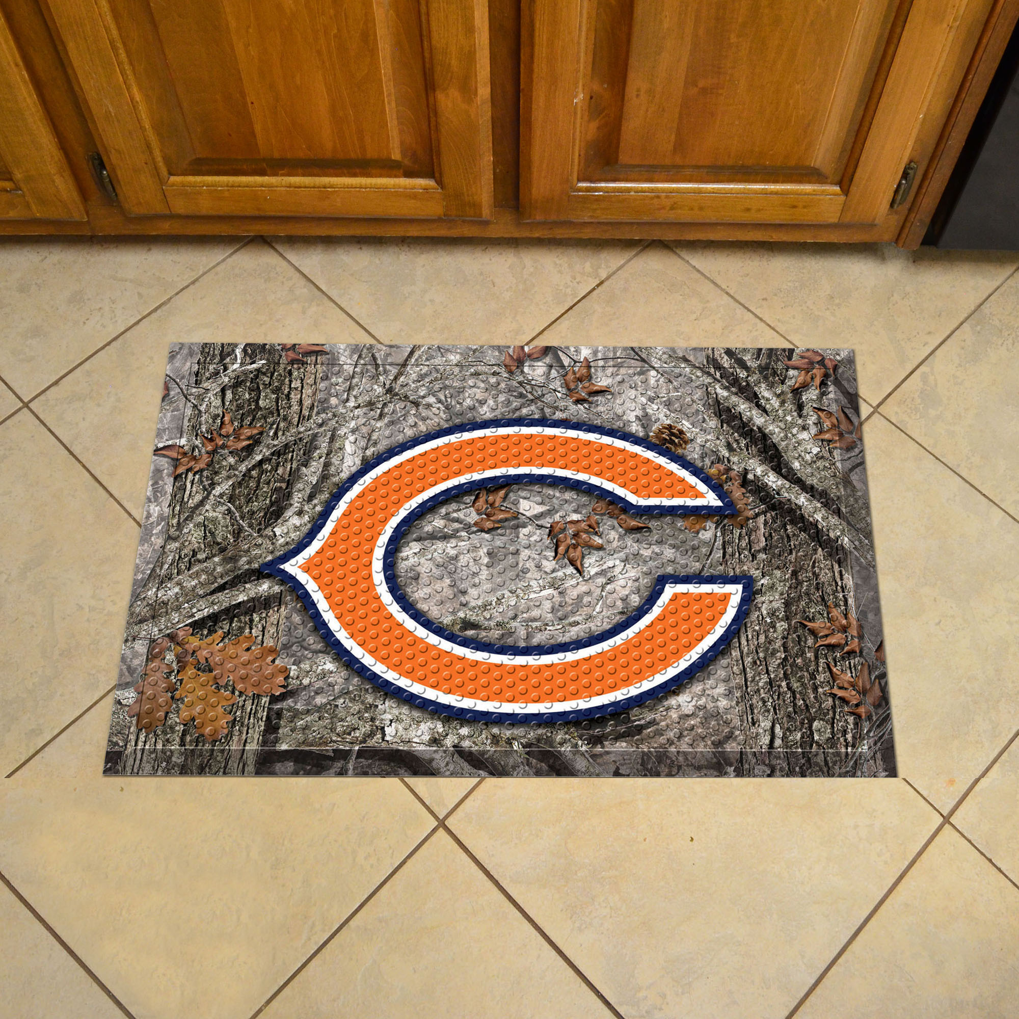 Chicago Bears Camo Style SCRAPER Door Mat