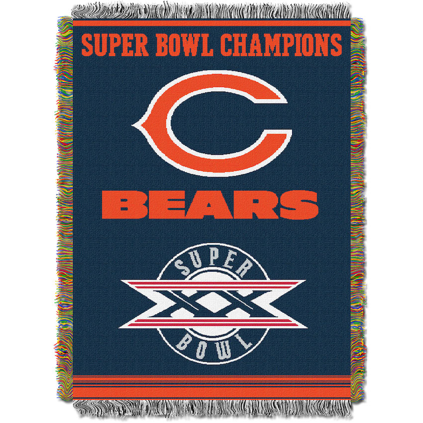 Chicago Bears Commemorative Super Bowl Tapestry Throw