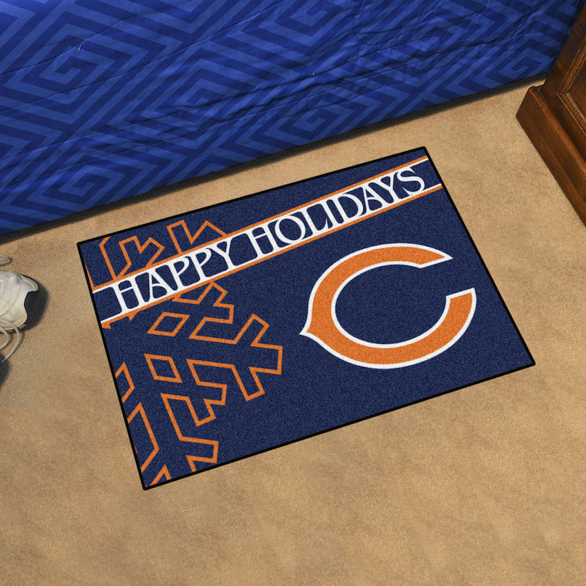 Chicago Bears Holiday Floor Mat
