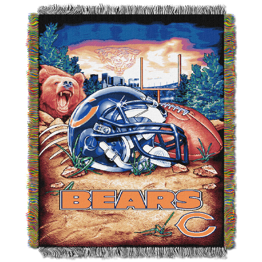 Chicago Bears Home Field Advantage Series Tapestry Blanket 48 x 60