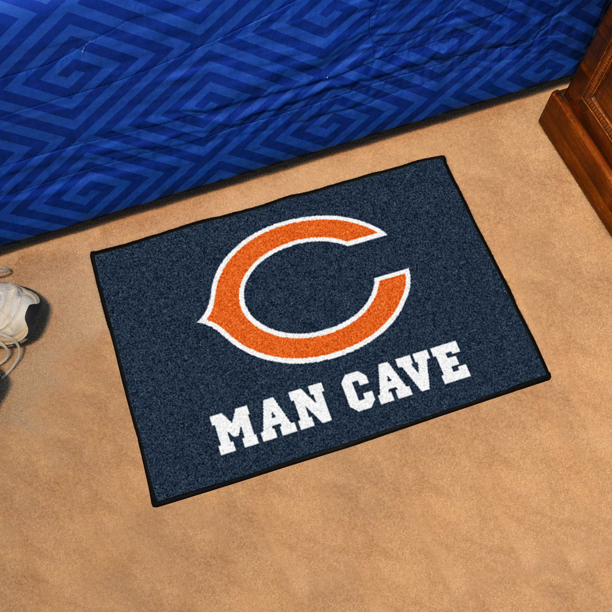 Chicago Bears MAN CAVE 20 x 30 STARTER Floor Mat