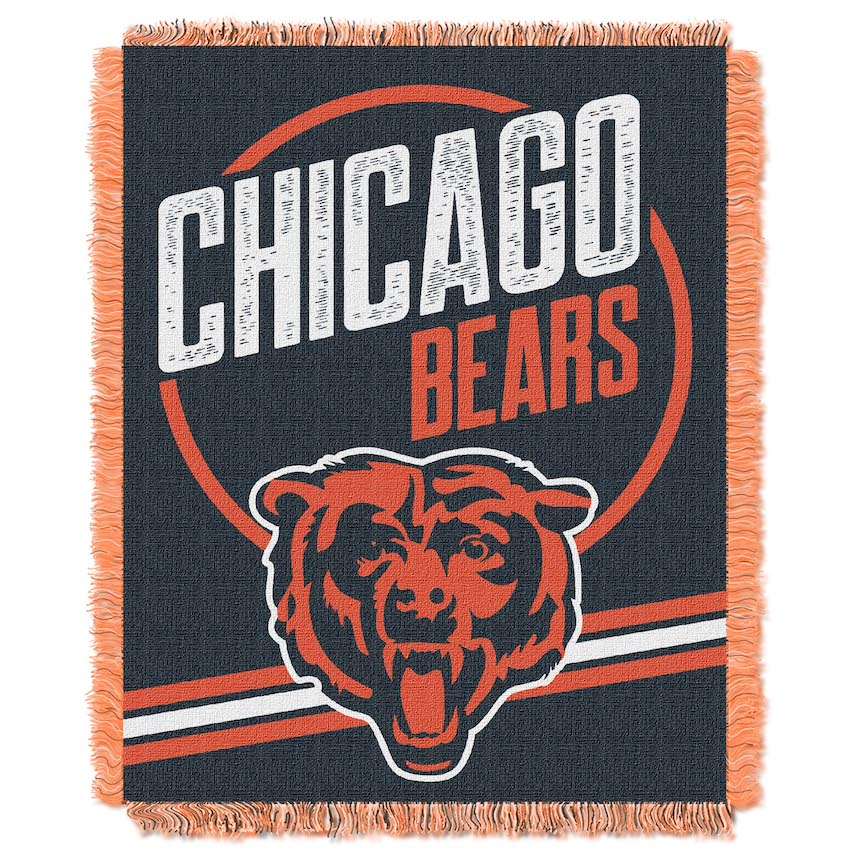 Chicago Bears Double Play Tapestry Blanket 48 x 60