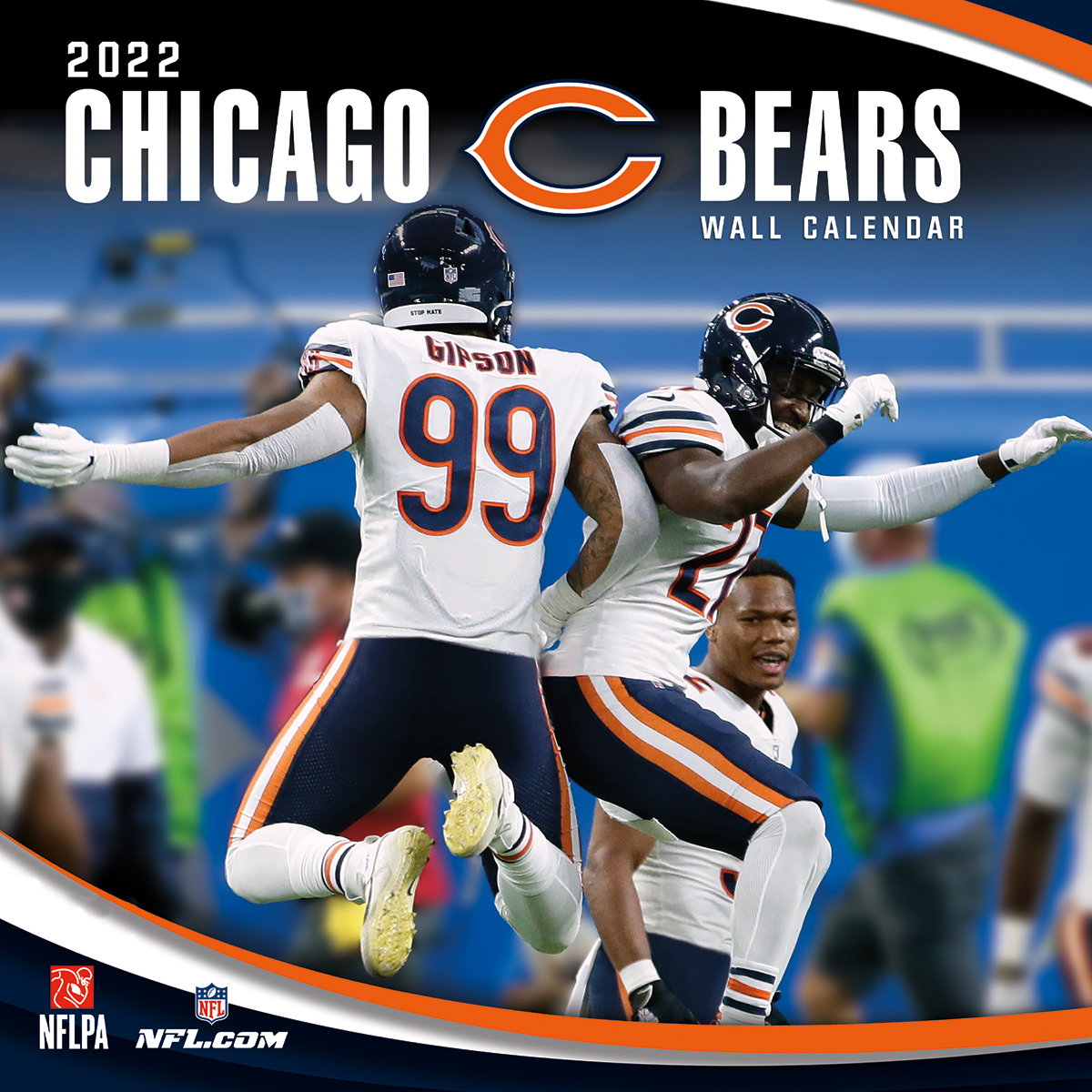 Philadelphia Eagles Team 2017 >> Chicago Bears 2018 NFL Wall Calendar - Buy at KHC Sports