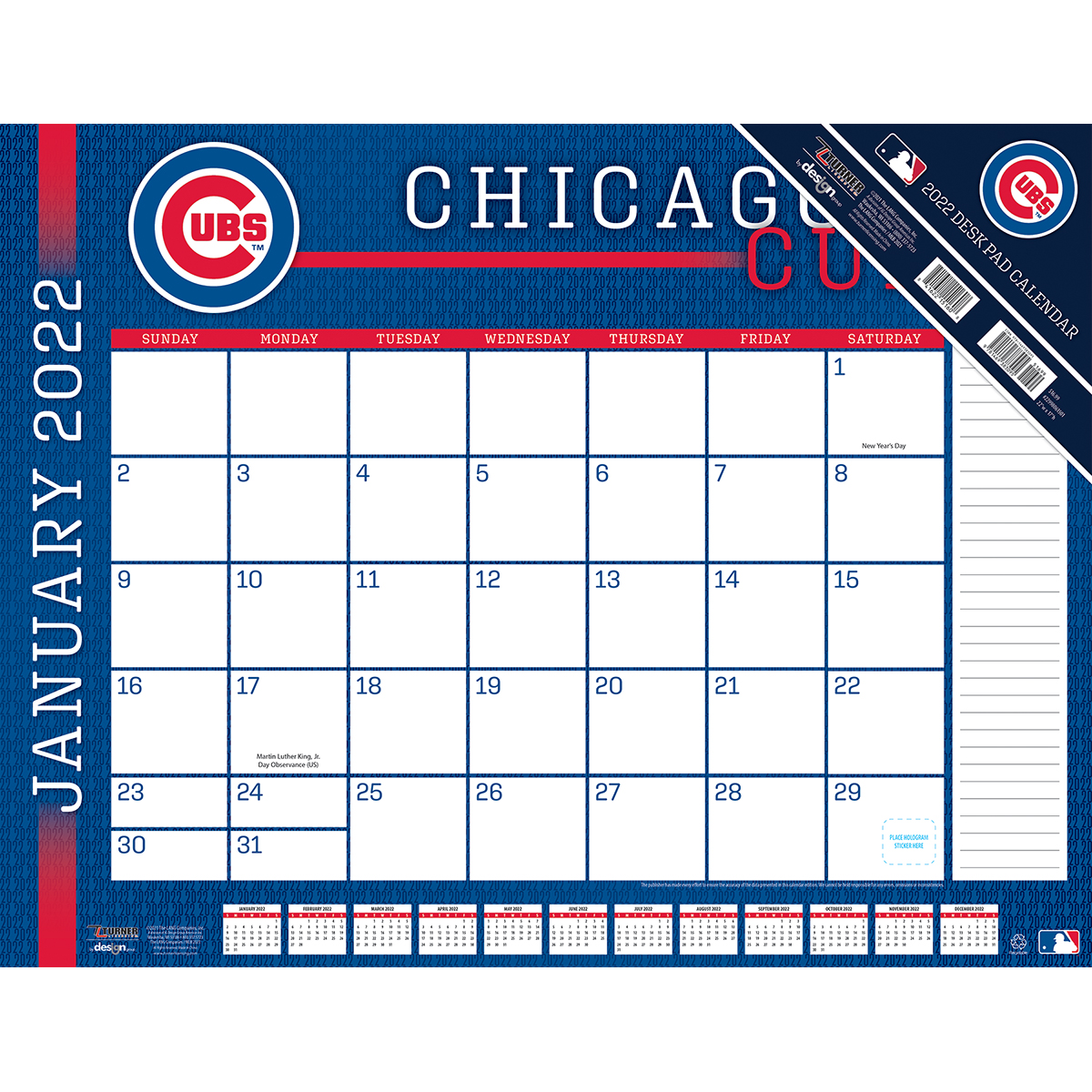 Chicago Cubs 2019 Mlb 22 X 17 Desk Calendar Buy At Khc