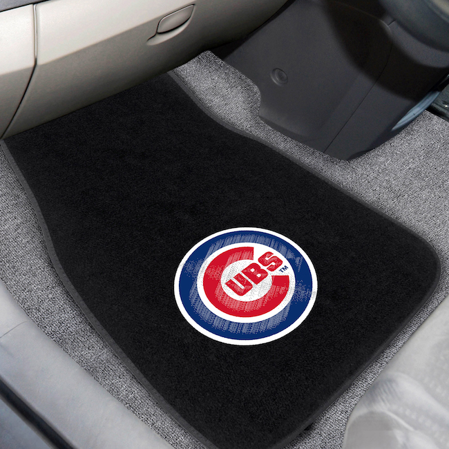 Chicago Cubs Car Floor Mats 17 x 26 Embroidered Pair
