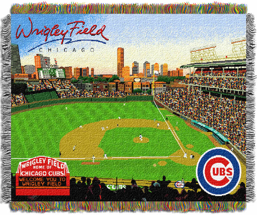 Chicago Cubs Stadium Tapestry Blanket 48 X 60