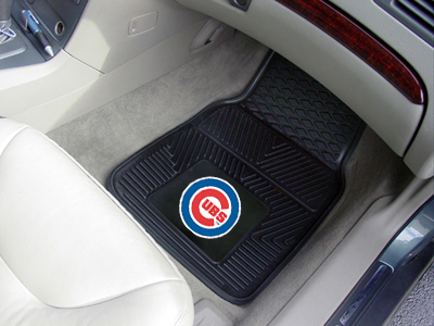Chicago Cubs Car Floor Mats 18 x 27 Heavy Duty Vinyl Pair