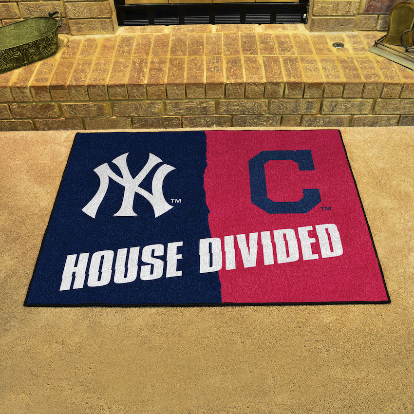 MLB House Divided Rivalry Rug Chicago White Sox - Chicago Cubs