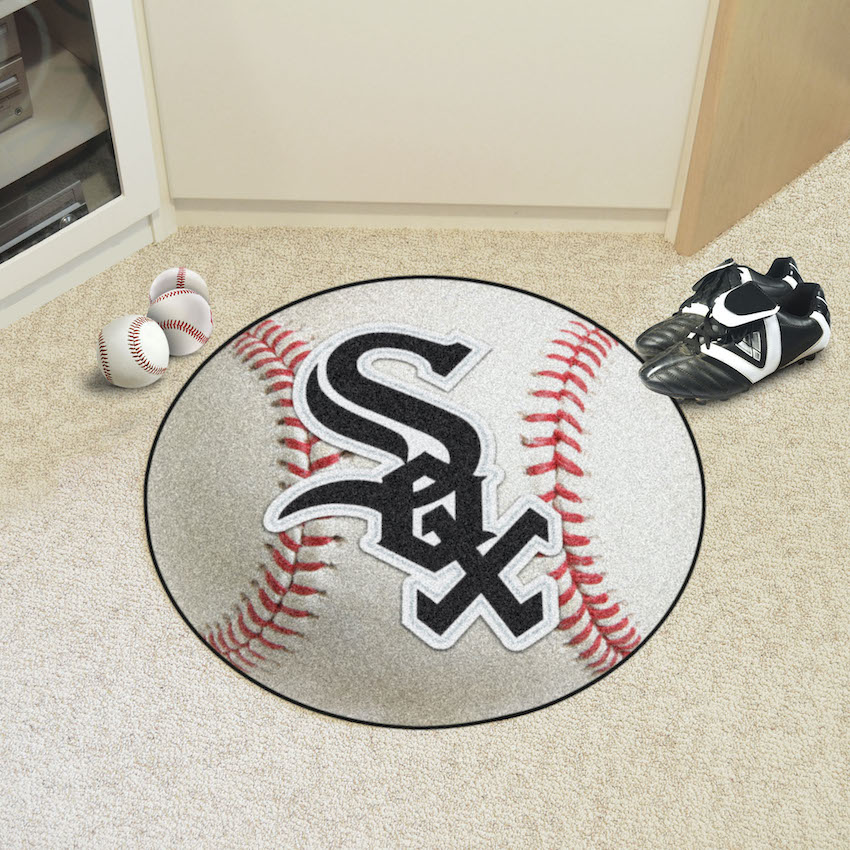 Chicago White Sox Round Baseball Mat