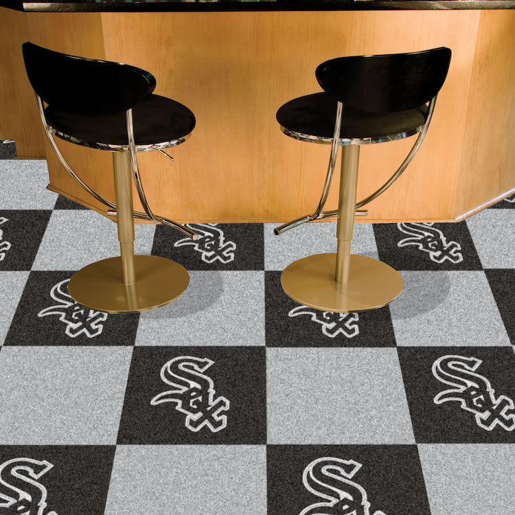 Chicago White Sox Carpet Tiles 18x18 in.