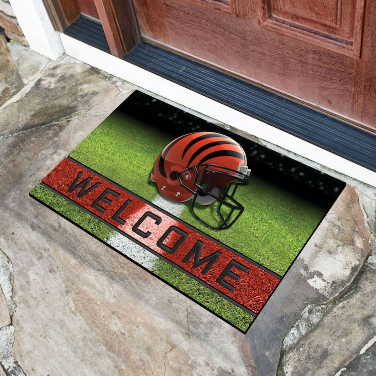 Cincinnati Bengals Recycled Crumb Rubber Door Mat