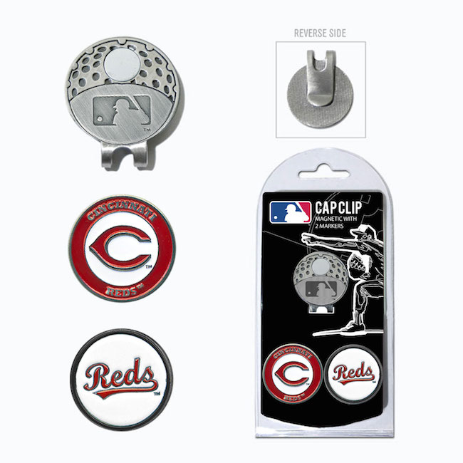 Cincinnati Reds Hat Clip With 2 Ball Markers