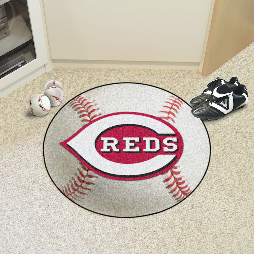 Cincinnati Reds Baseball Floor Mat