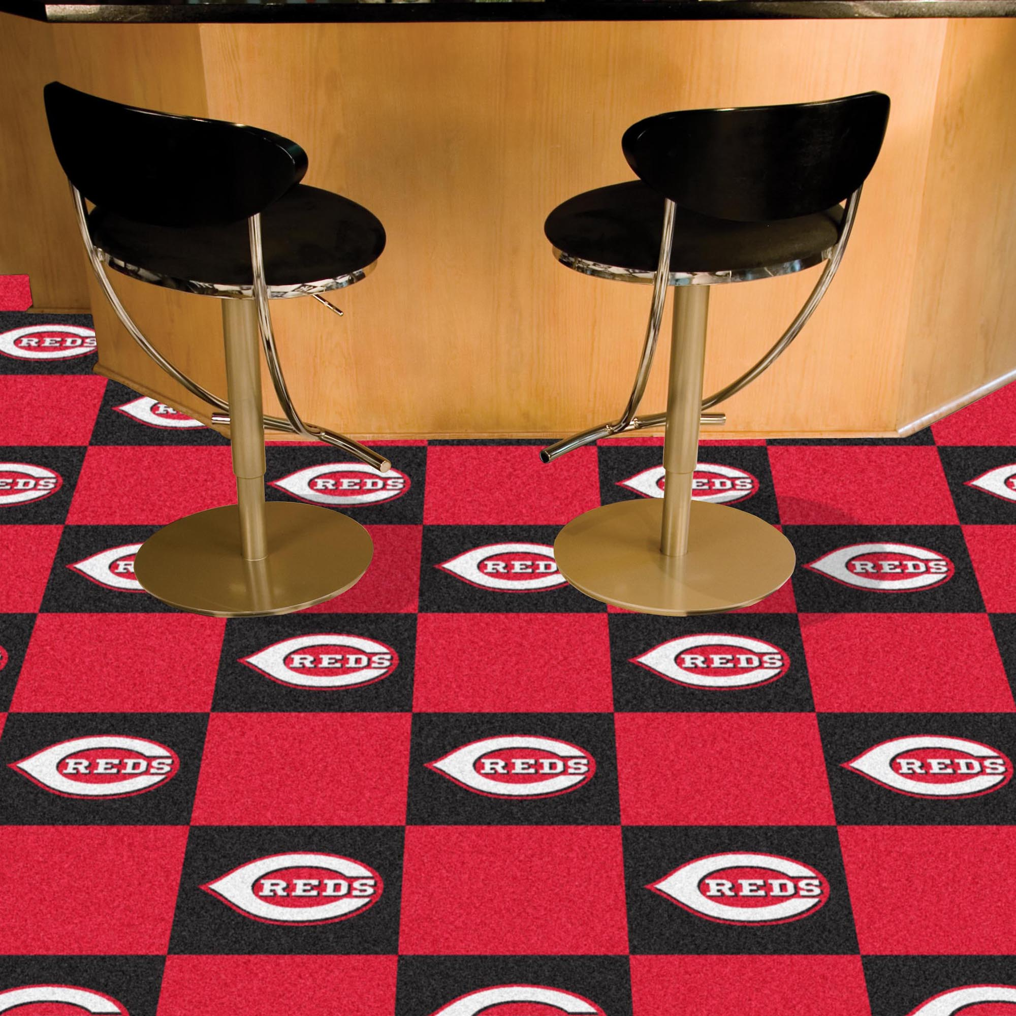 Cincinnati Reds Carpet Tiles 18x18 in.