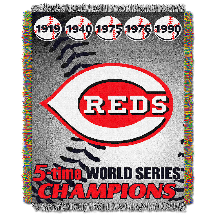 Cincinnati Reds Commemorative World Series Tapestry Throw