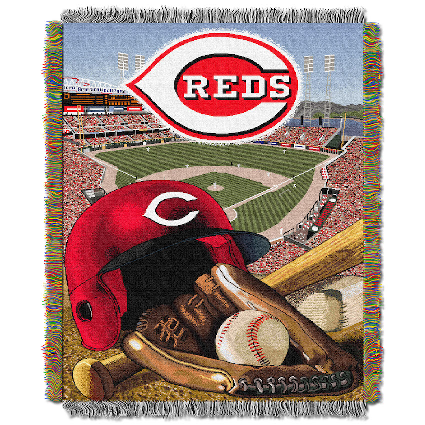Cincinnati Reds Home Field Advantage Series Tapestry Blanket 48 x 60