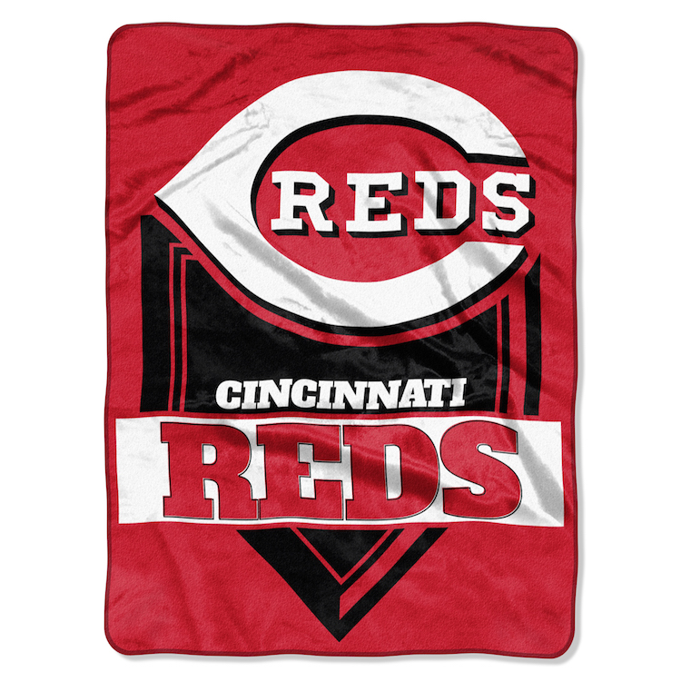 Cincinnati Reds Large Plush Fleece HOME PLATE 60 x 80 Blanket