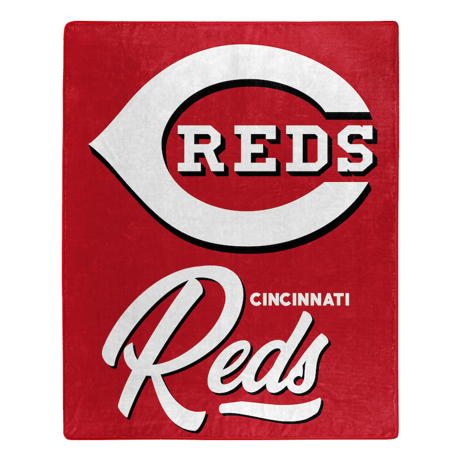 Cincinnati Reds Plush Fleece Raschel Blanket 50 x 60