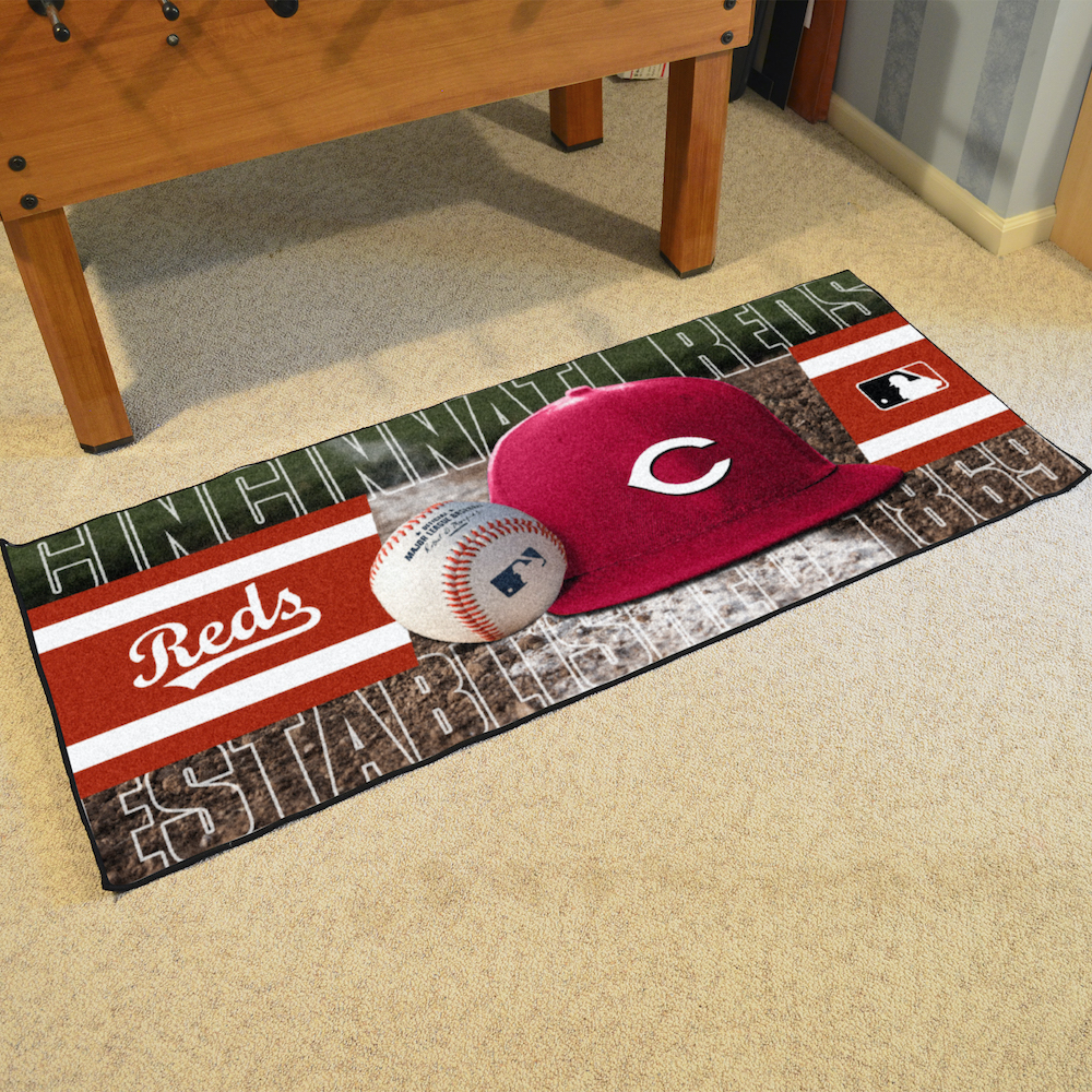 Cincinnati Reds 30 x 72 Baseball Carpet Runner
