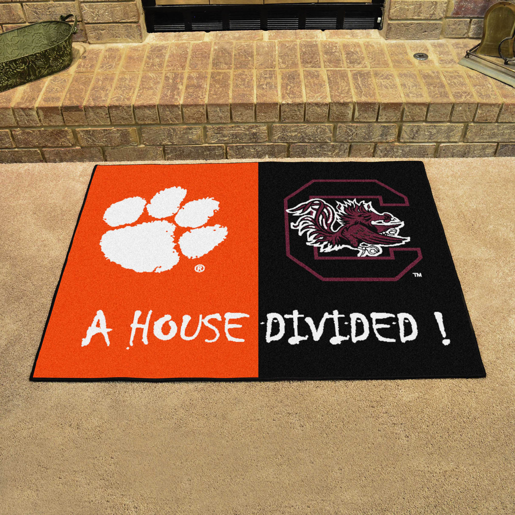NCAA House Divided Rivalry Rug Clemson Tigers