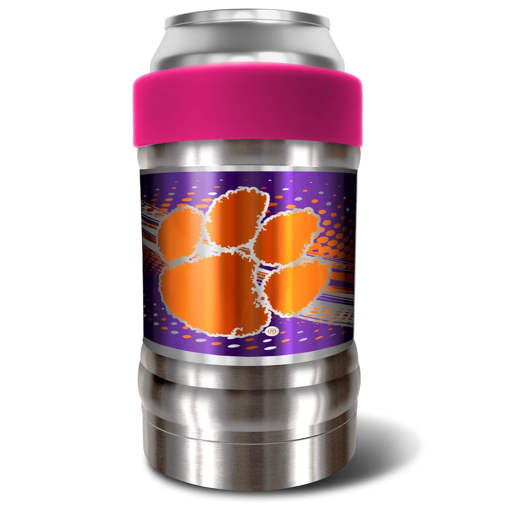 Clemson Tigers LOCKER NCAA Insulated Can and Bottle Holder - Pink