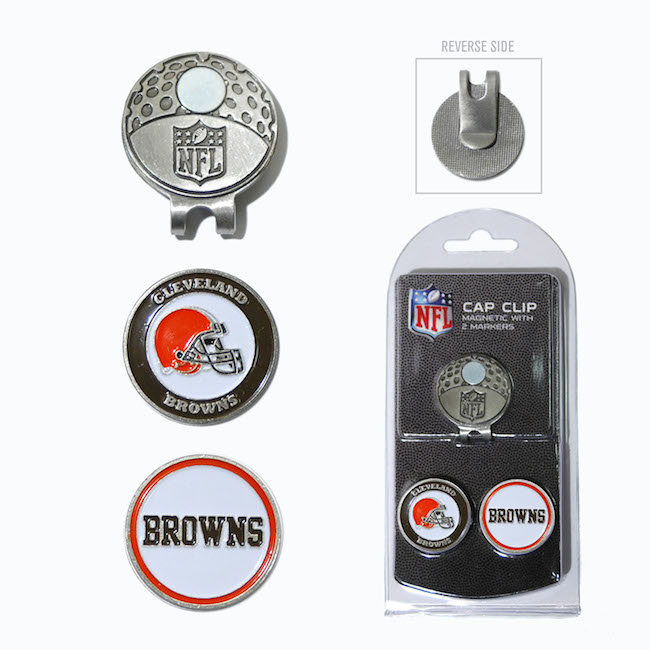 Cleveland Browns Hat Clip With 2 Ball Markers