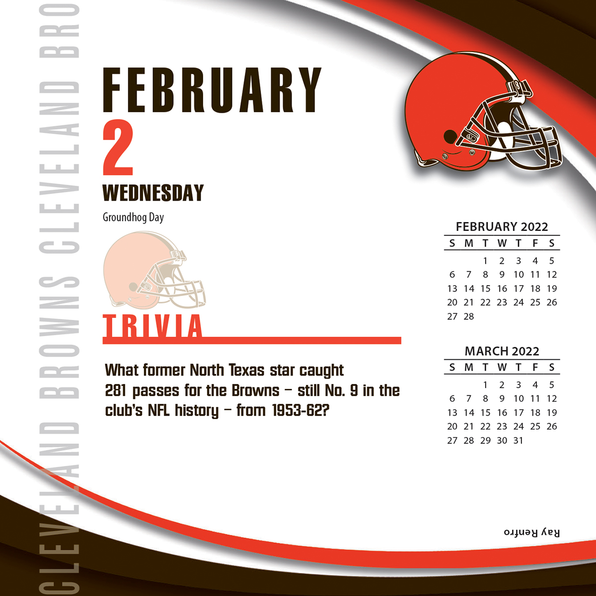 Cleveland Browns 2018 Nfl Page A Day Box Calendar Buy At