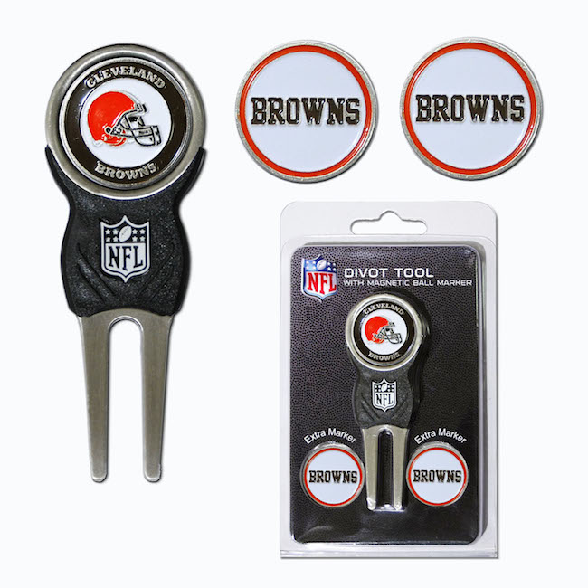 Cleveland Browns 3 Marker Signature Divot Tool Pack