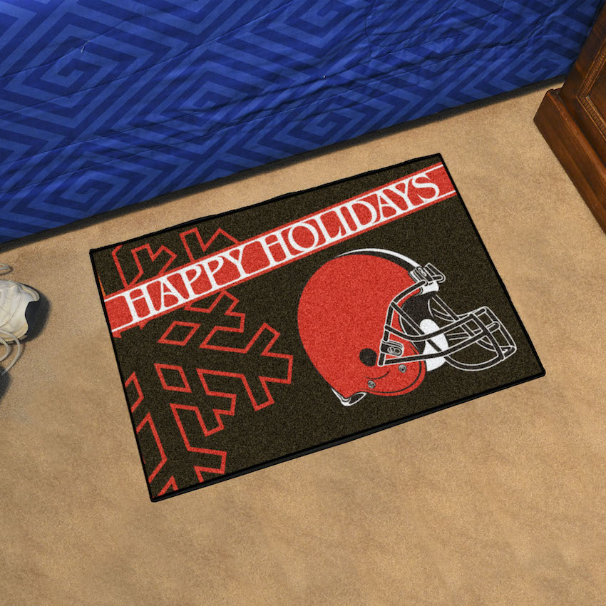 Cleveland Browns Holiday Floor Mat