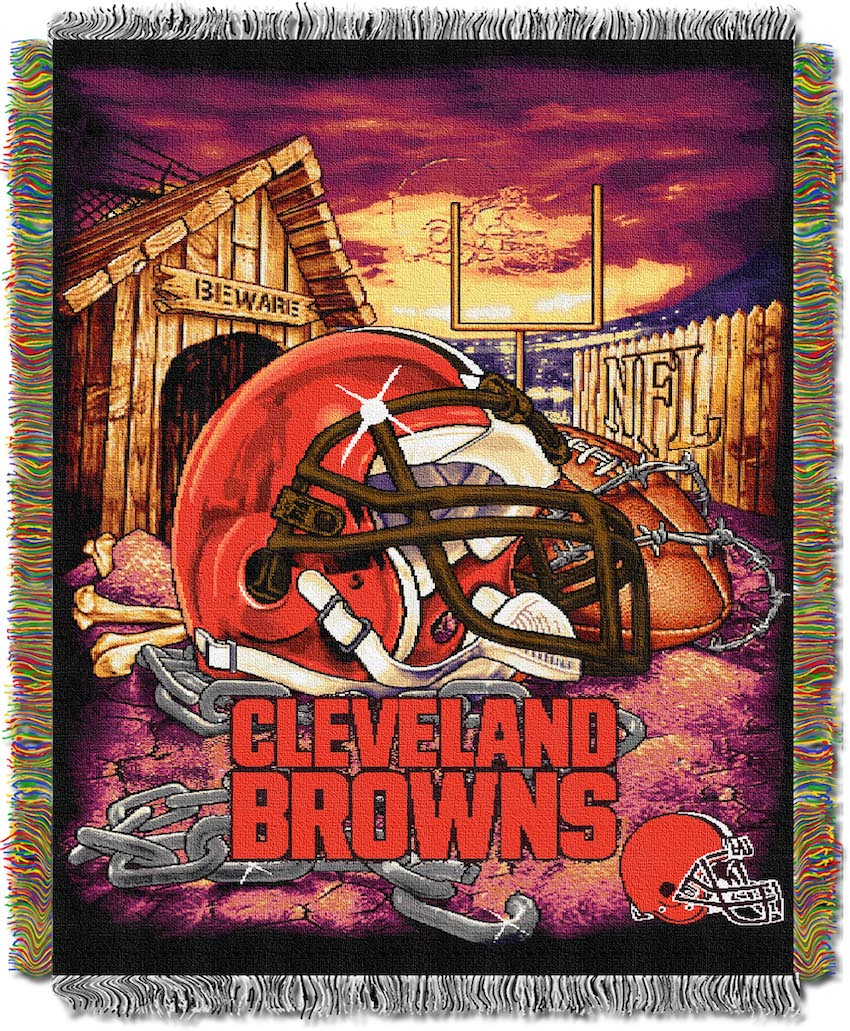 Cleveland Browns Home Field Advantage Series Tapestry Blanket 48 x 60
