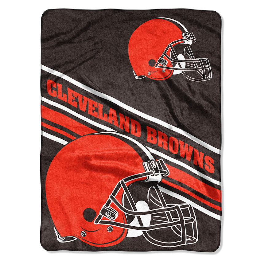 Cleveland Browns Large Plush Fleece Raschel Blanket 60 x 80