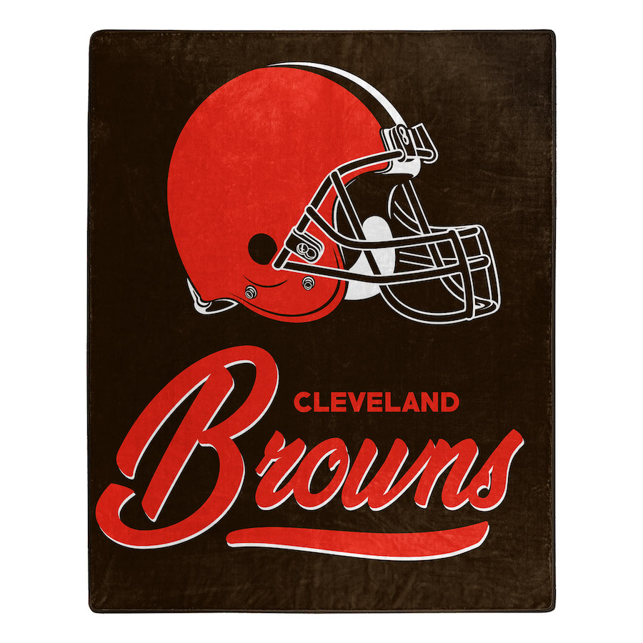 Cleveland Browns Plush Fleece Raschel Blanket 50 x 60