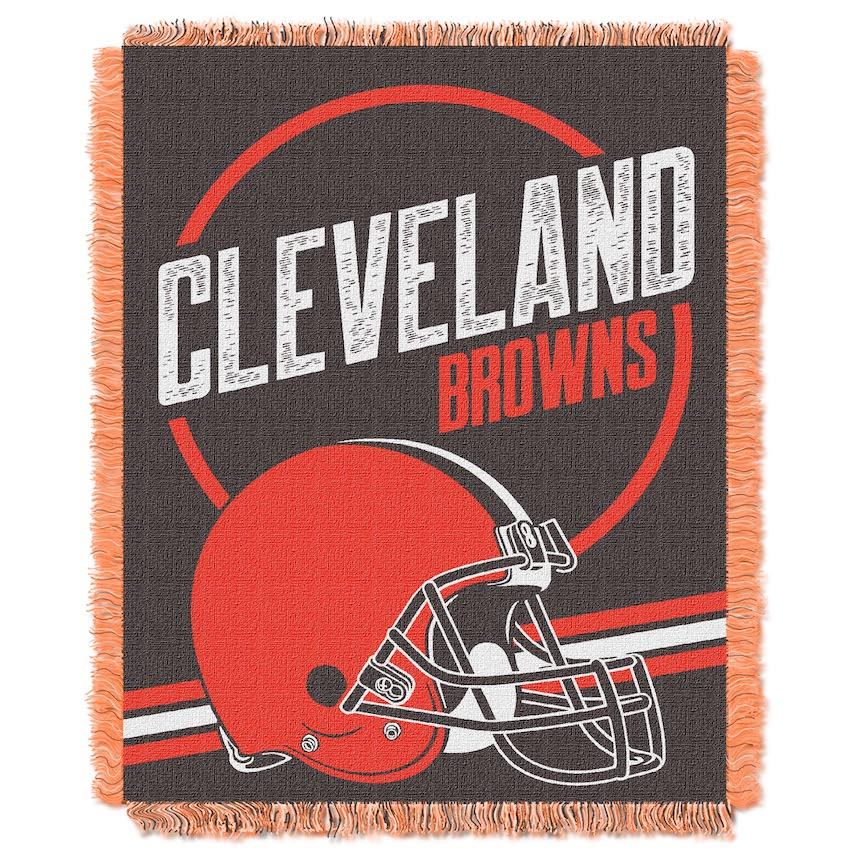 Cleveland Browns Double Play Tapestry Blanket 48 x 60