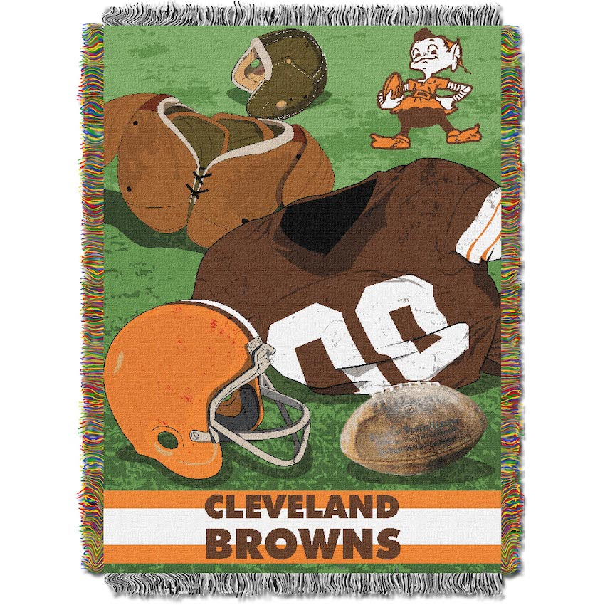 Cleveland Browns Commemorative VINTAGE Tapestry Throw