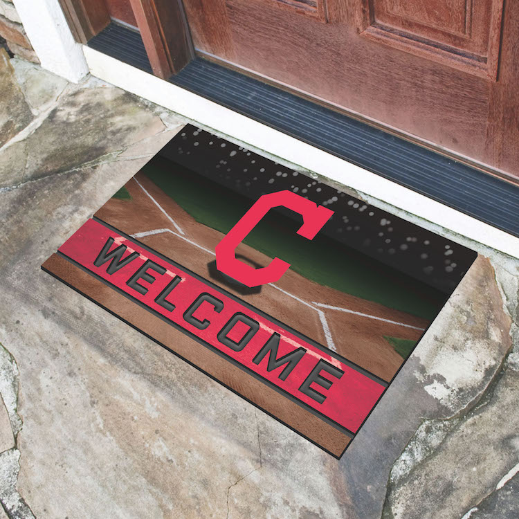 Cleveland Indians Recycled Crumb Rubber Door Mat