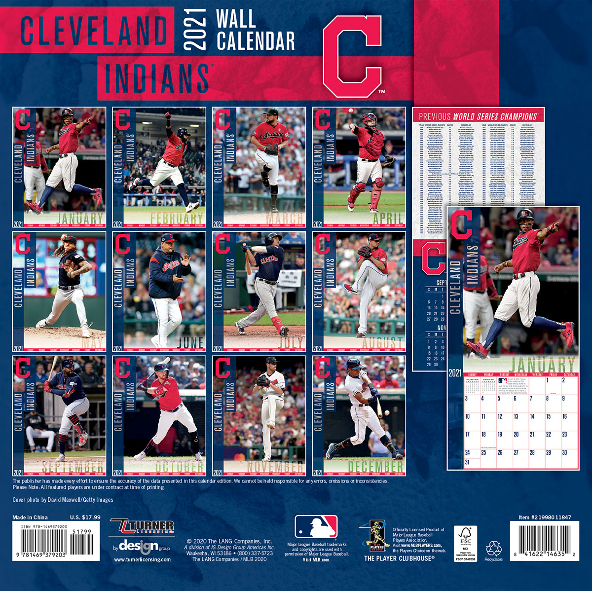 Cleveland Indians 2018 Mini Wall Calendar Buy At Khc Sports