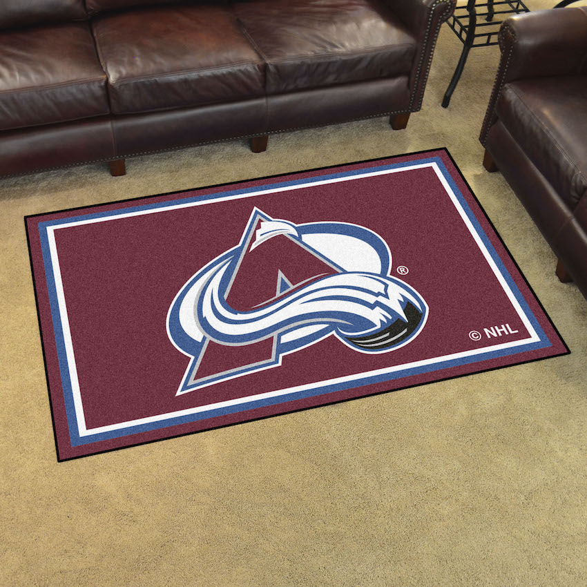 Colorado Avalanche 4x6 Area Rug