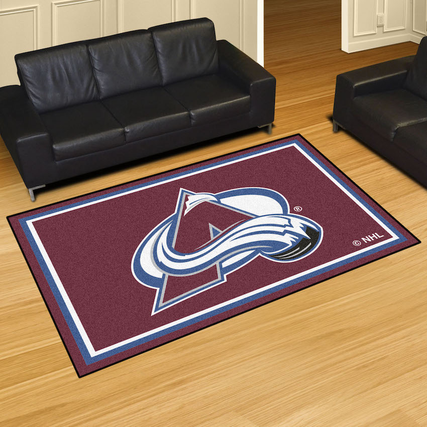 Colorado Avalanche 5x8 Area Rug