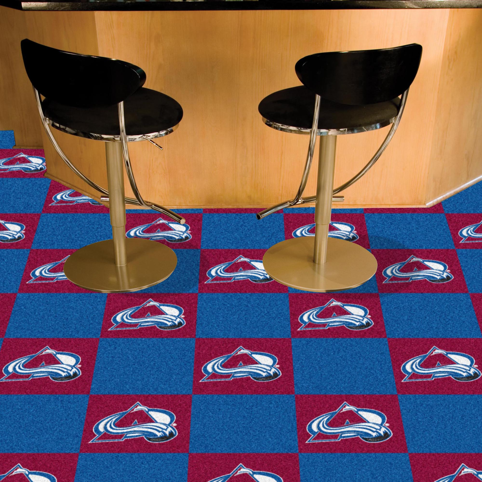 Colorado Avalanche Carpet Tiles 18x18 in.