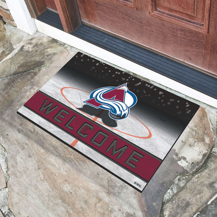 Colorado Avalanche Recycled Crumb Rubber Door Mat