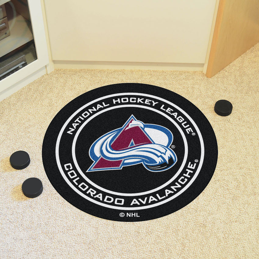 Colorado Avalanche Round Hockey Puck Mat