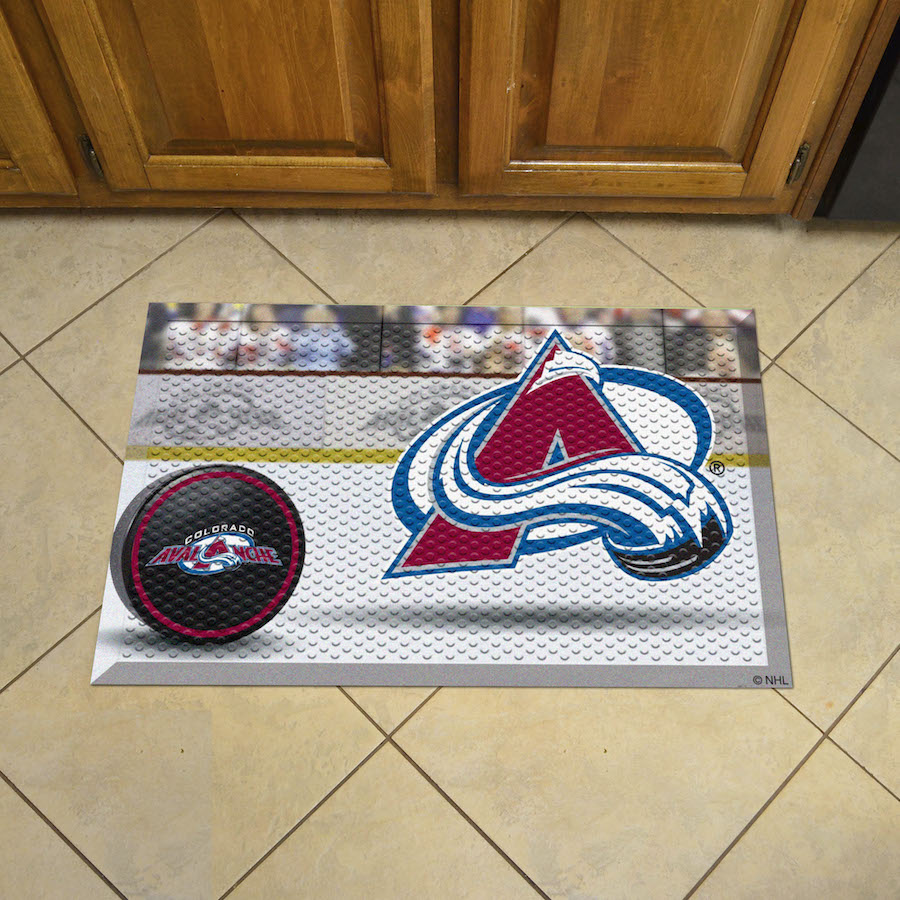 Colorado Avalanche Puck Style SCRAPER Door Mat