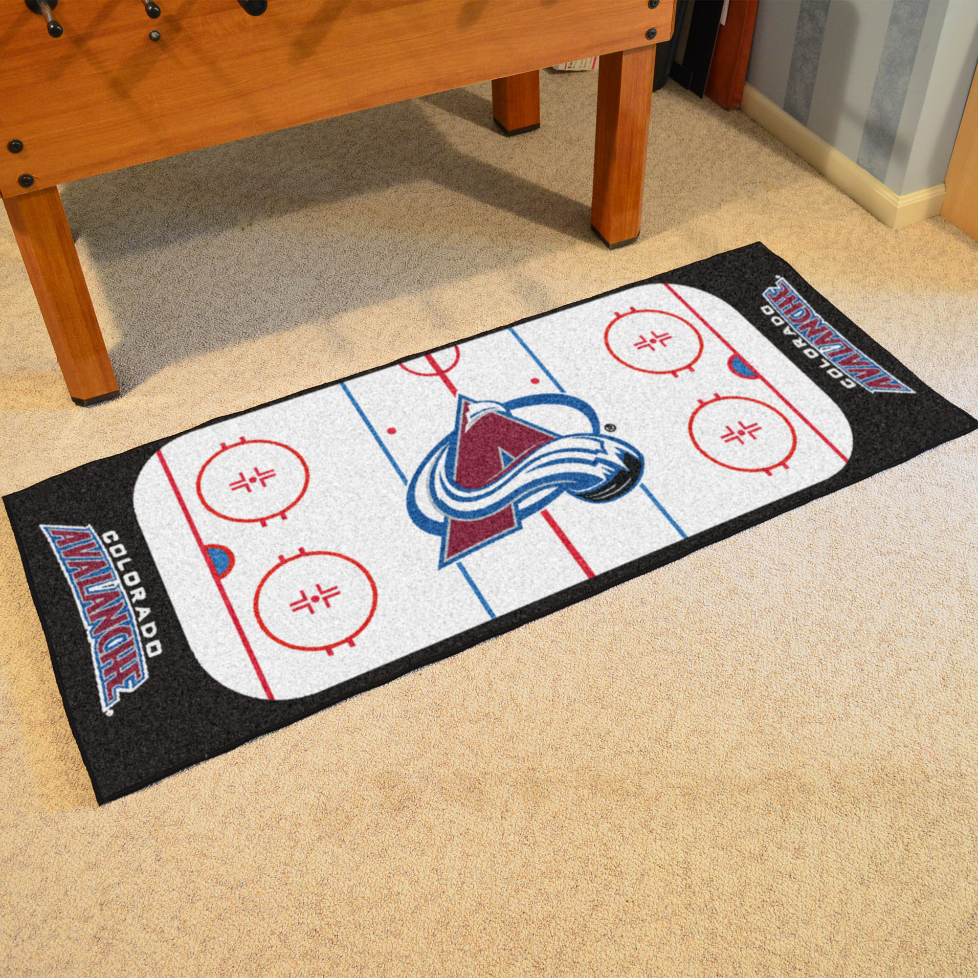 Colorado Avalanche 30 x 72 Hockey Rink Carpet Runner