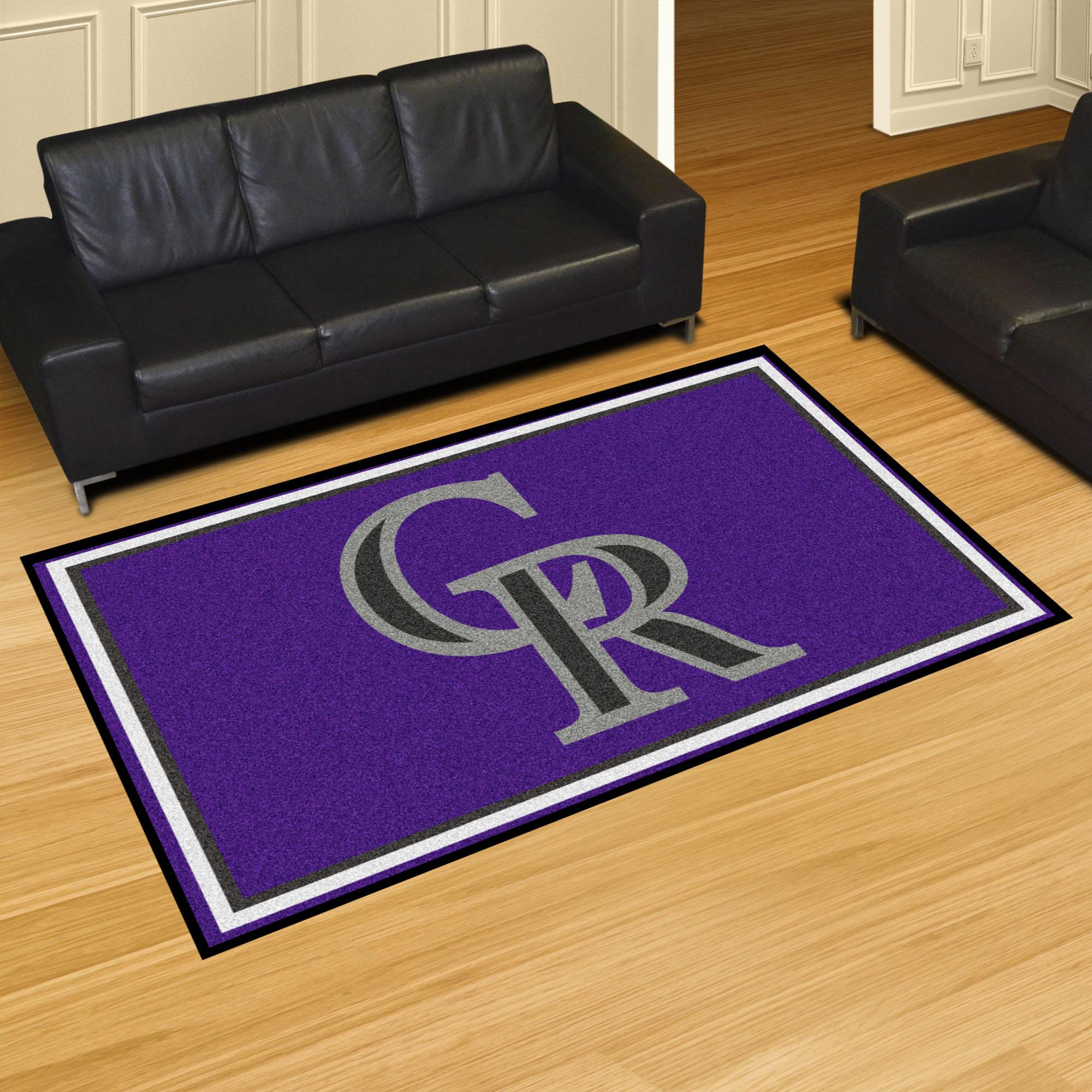 Colorado Rockies 5x8 Area Rug