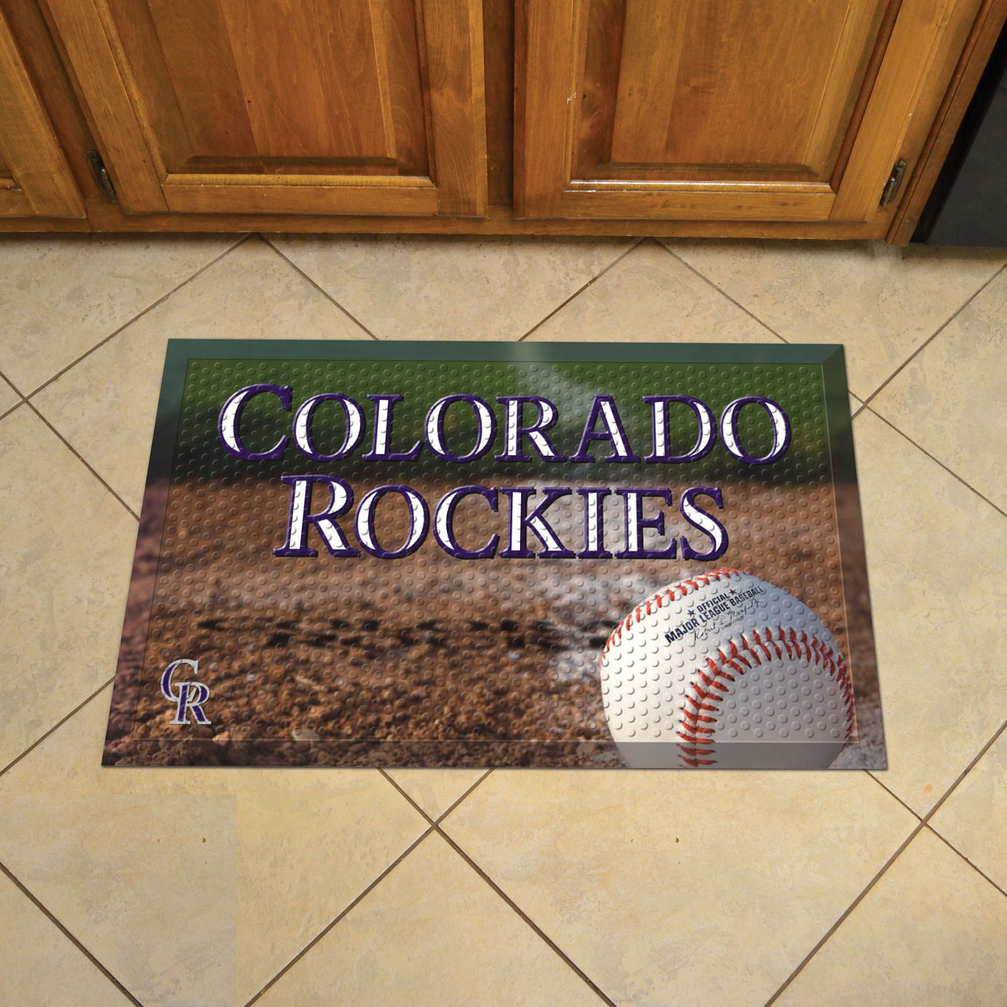 Colorado Rockies Ball Style SCRAPER Door Mat