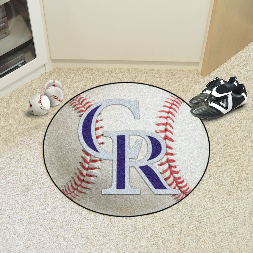 Colorado Rockies Round Baseball Mat