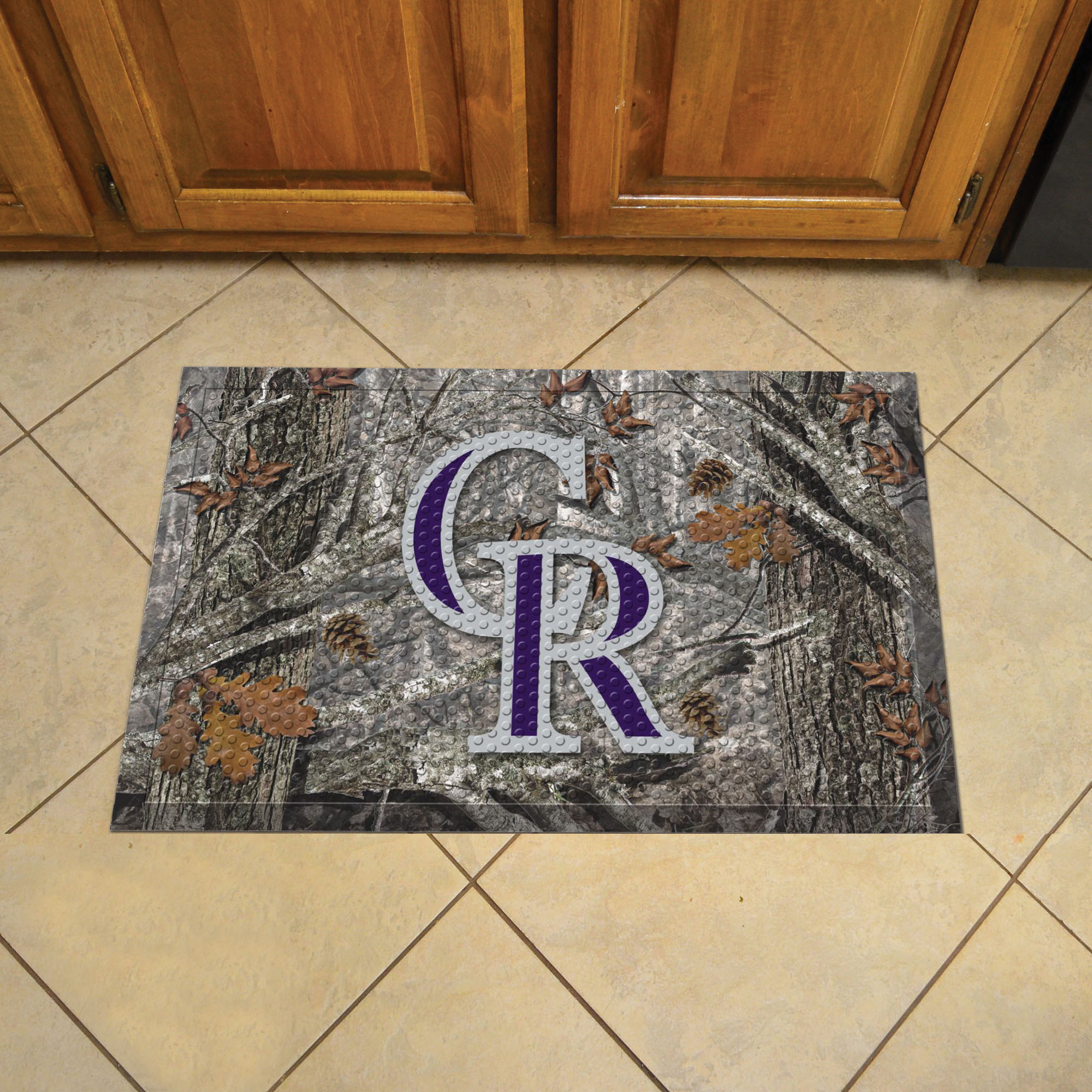Colorado Rockies Camo Style SCRAPER Door Mat