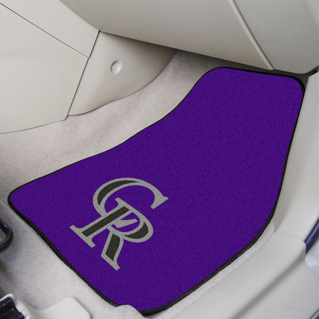 Colorado Rockies Car Floor Mats 18 x 27 Carpeted-Pair